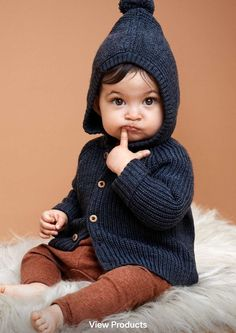 toddlers navy knitted jacket