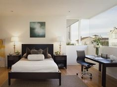 Home Office Bedroom Design Ideas - http://interiormag.xyz/20160917/bedroom-decorating-idea/home-office-bedroom-design-ideas/2429