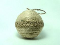 10% Off Coupon! HomeDarlingPin10  Recycled Christmas ornament rope rustic hanging by HomeDarling