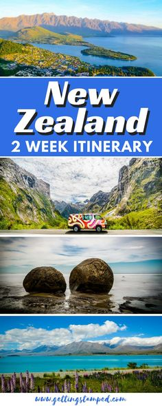 A complete itinerary for visiting the South Island of New Zealand. Start your morning with a hike along the Lake Gunn trail for forests that look straight out of Lord of the Rings. Drive along the Milford Sound Highway featuring staggering landscapes around every corner. Road tripping New Zealand. | Getting Stamped - Couple #Travel & #Photography #Blog #NewZealand