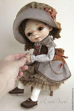 Купить Шарлотта - коричневый, кукла, кукла ручной работы, валяная кукла, авторская кукла