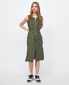 ZARA - WOMAN - LINEN ZIP-UP DRESS