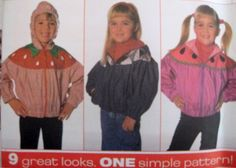 SIMPLICITY Sewing Pattern 7567 5,6,6X DESIGN YOUR OWN JACKET - APPLIQUES INCLUDED