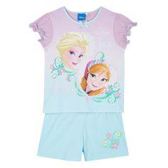 Disney Frozen Girl's aqua 'Frozen' top and shorts set- at Debenhams.com