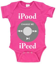 iPood_iPeed_Funny Baby Techie Shirt by CoolBabiesRUS on Etsy