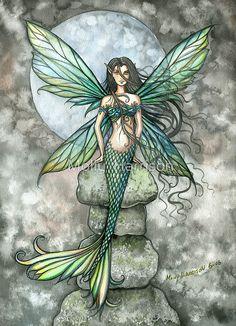 """From Sea to Sky"" Mermaid Fairy Art by Molly Harrison"