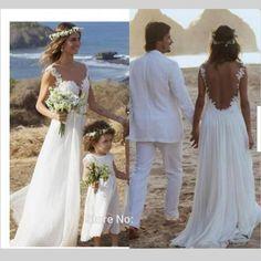 2016 Boho Beach Wedding Dress Sexy Spaghetti Illusion Back 2016 Romantic Bride Bridal Gown
