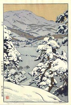 hanga gallery . . . torii gallery: Myoko Hot Spring by Toshi Yoshida