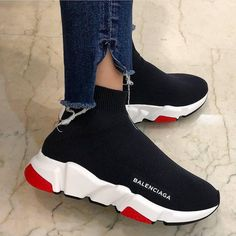 Fashion Look Featuring Balenciaga Sneakers by outfittys - ShopStyle Sock Shoes, Cute Shoes, Me Too Shoes, Women's Shoes, Shoe Boots, Shoes Sneakers, Shoes Men, Shoes Tennis, Adidas Shoes