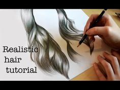 Emily's Tutorials: How to draw realistic hair! - YouTube