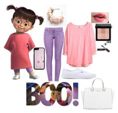 """Boo"" by justpleasedont ❤ liked on Polyvore featuring Disney, Boutique Moschino, H&M, Vans, Bobbi Brown Cosmetics and Michael Kors"