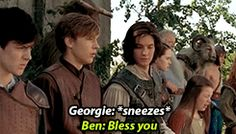 "Prince Caspian Bloopers haha---it's just like act normal *sneeze* ""bless you"" then act normal again!"