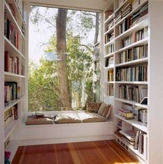 Reading Corner Nook With Window Seat And Built In Bookcase