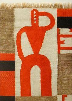 """Vertical-Horizontal Composition""  1918 Sophie Taeuber-Arp"