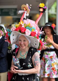 advanced style, old and charming @ HATS OF THE KENTUCKY DERBY