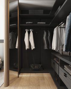 wardrobe Building A House, Minimalism, New Homes, Dressing, Interior Design, City, Storage, Furniture, Home Decor