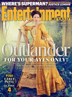 New Entertainment Weekly magazine cover with Caitriona Balfe as Claire Randall Fraser - Outlander_Starz Season 3 Voyager - November 9th, 2017
