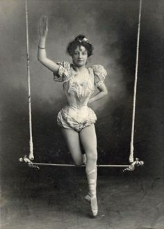 Browse Vintage+Photograph+Circus+Black+and+White+Trapeze+Artist+Woman+Victorian pictures, photos, images, GIFs, and videos on Photobucket Old Circus, Night Circus, Circus Acts, Scary Circus, Haunted Circus, Vintage Photographs, Vintage Images, Vintage Posters, Vintage Circus Photos