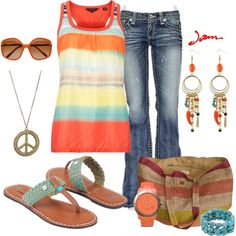 Summer Peace, created by jayneann1809 on Polyvore