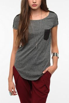 byCORPUS Faux Suede Pocket Tee  #UrbanOutfitters