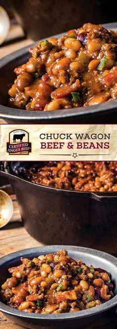 Certified Angus Beef®️️️ brand Chuck Wagon Beef and Beans #beeffoodrecipes