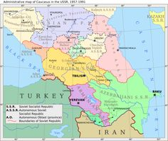 Map Of The Ethnic Composition Of The Caucasus Maps Of - The caucasus map