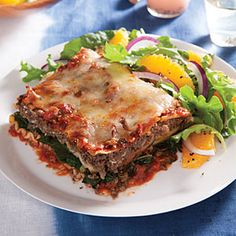 16 Restaurant Dishes Made Healthy | Tomato Sauce Lasagna | CookingLight.com