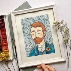 Drawing On Creativity - Drawing On Demand Arte Van Gogh, Van Gogh Art, Watercolor Artists, Watercolor Paintings, Van Gogh Watercolor, Painting Illustrations, Illustration Arte, Arte Sketchbook, Art Journal Inspiration