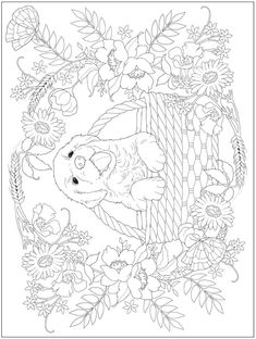 Owl Coloring Pages, Adult Coloring Book Pages, Christmas Coloring Pages, Coloring For Kids, Coloring Sheets, 3d Drawings, Animal Drawings, Creative Haven Coloring Books, Dover Publications
