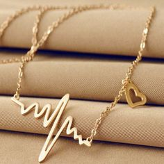 Heart Beat Chain Women Necklace | Daisy Dress for Less | Women's Dresses & Accessories