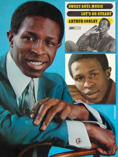 """Arthur Conley (Jan. 4, 1946 – Nov. 17, 2003) was a U.S. soul singer, best known for the 1967 hit """"Sweet Soul Music"""". He grew up in Atlanta, GA. In 1967 he met Otis Redding and, together, they rewrote Sam Cooke's """"Yeah Man"""" into """"Sweet Soul Music"""". It proved to be a massive hit, going to the number two position on the U.S. charts and the Top Ten across much of Europe, and sold over one million copies. He relocated to England in 1975, spent several years in Belgium, & finally settled in Amsterdam."""
