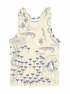 Mini Rodini: Crocodile map tank top - cool kids clothes