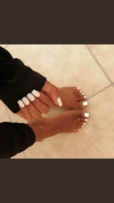 Simple White Toe Nails Ideas nails nail toenails beauty is part of Christmas nails Almond Sea Salt - Christmas nails Almond Sea Salt Perfect Nails, Gorgeous Nails, Pretty Nails, Aycrlic Nails, Hair And Nails, Gel Toe Nails, Sexy Nails, Cure Nails, Cute Toe Nails