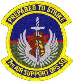 USAF 145TH OPERATIONS SUPPORT SQ PATCH     /'SWARMING TO ANSWER THE CALL/'   COLOR