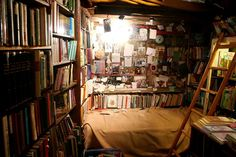 Shakespeare and Co. offers beds to aspiring writers. Book heaven in Paris* @Shakespeare_Co*