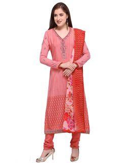 9639f33c0c84c7 buy online Dark peach Color designer Thread and zari embroidery Work salwar  suits at joshindia salwarkameez