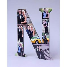 Photo Monogram ~ A fun way to display a group of photos Glue Crafts, Diy Arts And Crafts, Crafts To Make, Decorative Alphabet Letters, Weekend Crafts, Elmer's Glue, Picture Gifts, Adult Crafts, Girls Weekend
