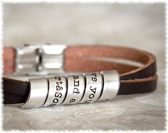 Great mens gift-quote-jewelry-secret-message bracelet, hand stamped