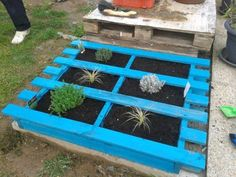 upcycled pallet garden bed