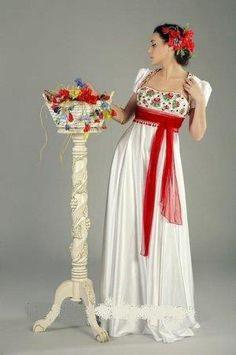 Русское женское парадное платье с