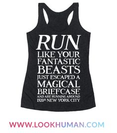 Show off your love of that magical spin-off movie with this wizarding world, magic believer's, workout humor, Muggle world shirt! Hurry up and catch those cute magical creatures!