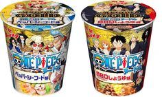 """""""One Piece cup noodles to be released in Japan! Promotion for new OP movie GOLD :)"""" Nissin Noodles, Japanese Ramen Noodles, Ben And Jerrys Ice Cream, Cupping Set, Root Beer, International Recipes, One Piece, Snacks, Naruto"""