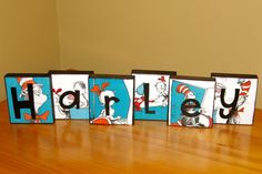 Dr. Suess - doing this with both DRAVEN and MIKEILA's names with it! Great way to kick start Homeschooling with a FUN themed STUDY ROOM!