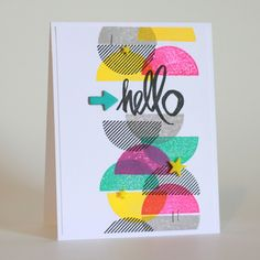 Hello by photochic17 at @studio_calico #studiocalico #cardmaking #nsd2015 #stamping