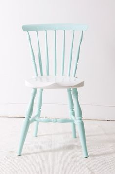 Pastel wooden chair