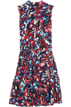 Saloni Tilly printed washed-silk mini dress NET-A-PORTER.COM