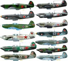 Russian Fighter, Airplane Fighter, Ww2 Planes, Ww2 Aircraft, Red Army, Aviation Art, World War Two, Wwii, Camouflage