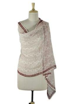 Silk shawl, 'Pune Feast' NOVICA. $44.95