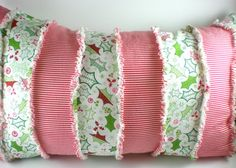 WIN this handmade Christmas throw pillow at The Funky Monkey! Giveaway ends 12/7/12.
