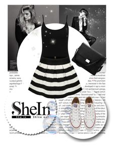 """SheIn"" by lejlasaric ❤ liked on Polyvore featuring M&Co, Converse, Aspinal of London, women's clothing, women, female, woman, misses and juniors"